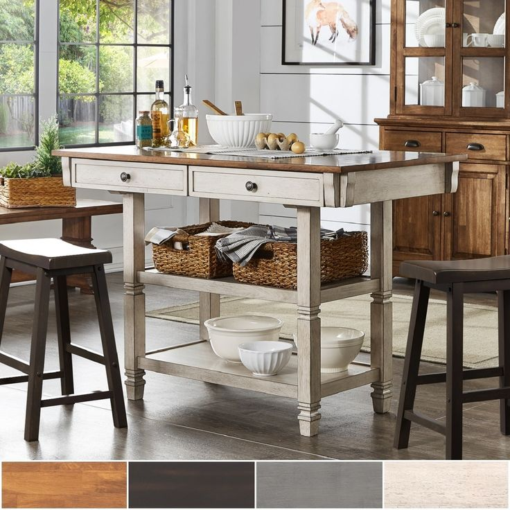 Best Elena Two Tone Antique Kitchen Island Buffet By Inspire Q 640 x 480