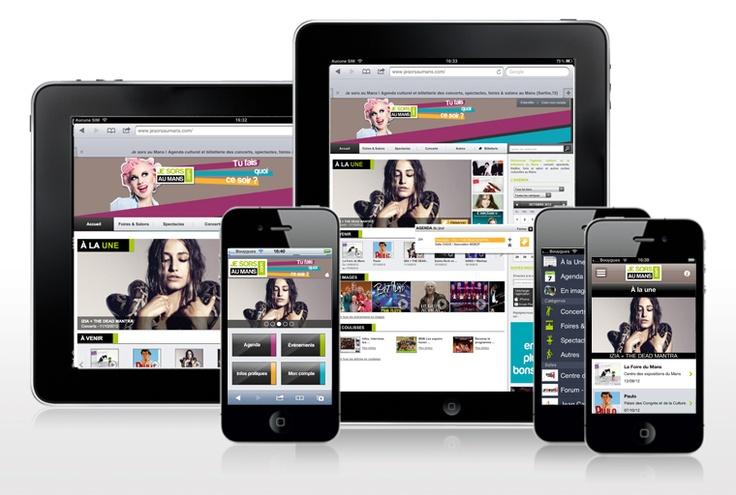 Site iPad et mobile + Application mobile - Jesorsaumans.com