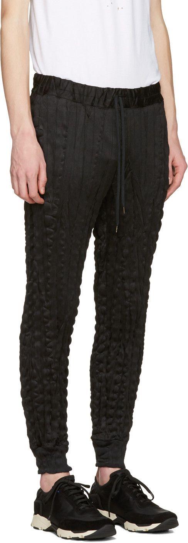 Issey Miyake Men - Black Wrinkled Trousers
