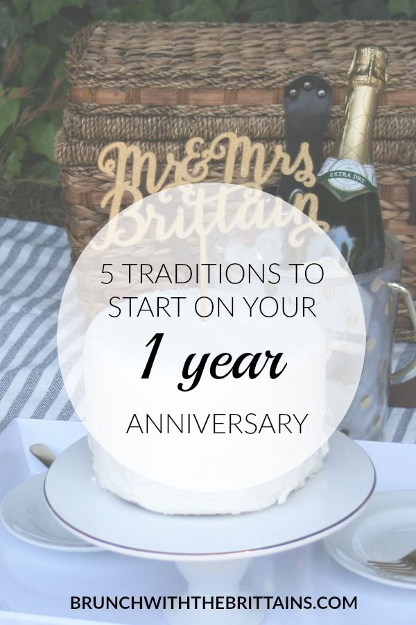 5 Traditions To Start On Your 1 Year Wedding Anniversary
