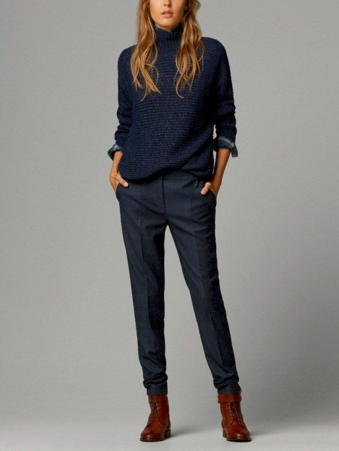 Amazing Casual Business Attire with Sweater Dress for Women 18