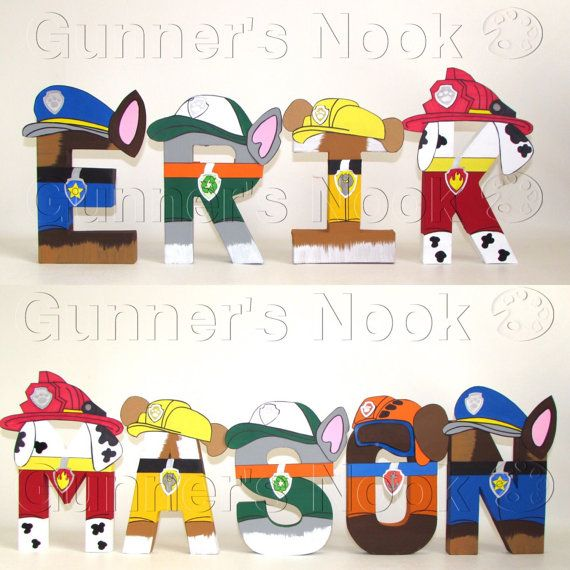 PAW Patrol Letters - Price Per Letter