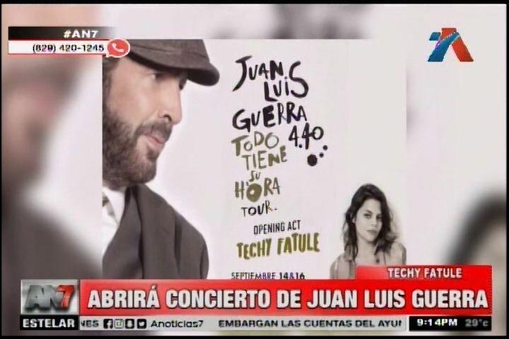 Techy Fatule Abrirá Concierto De Juan Luis Guerra En Estados Unidos
