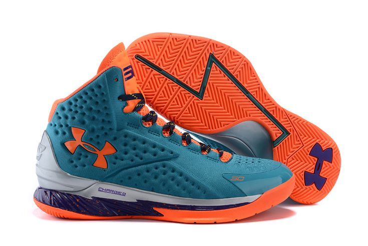 Under Armour Curry One SC30 Select Camp Teal Orange Purple