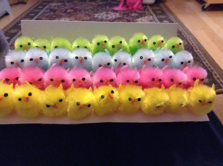 Some cute fuzzy chicks I found on oriential trading :)