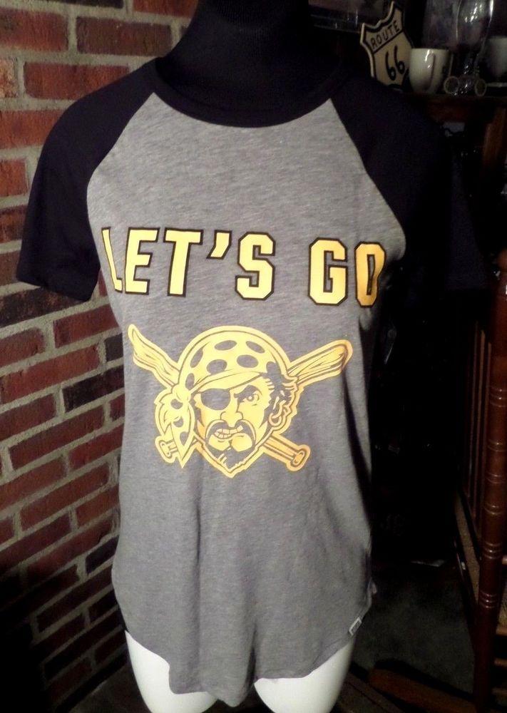 abe3d1545a9 Victoria's Secret PINK Pittsburg Pirates LETS GO BUCS MLB Shirt Sz XS VGC  #VictoriasSecretPINK #GraphicTee