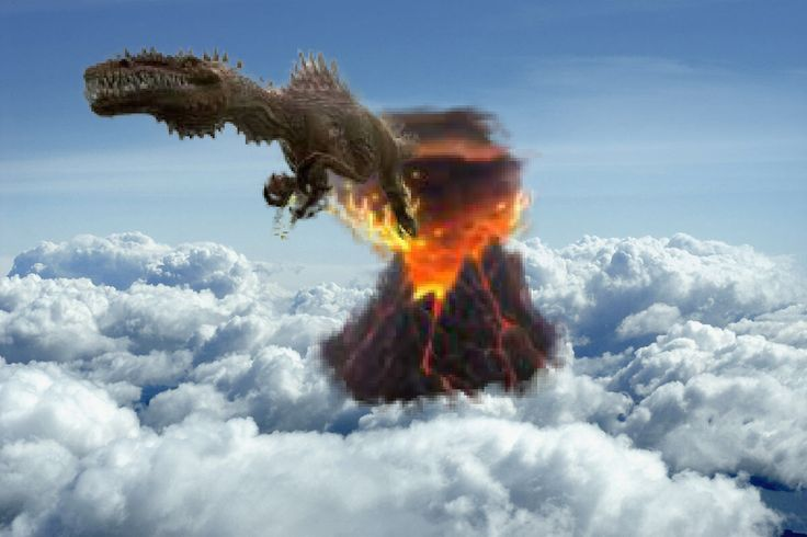 Cloudy with a chance of dinos Made with #PhotoshopMix.