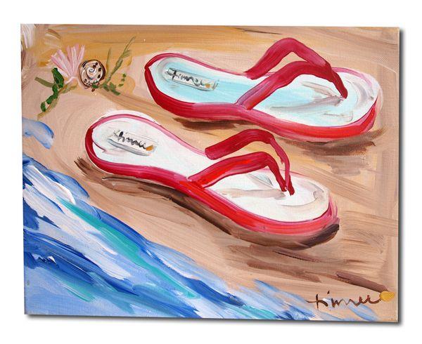 We flip for artist -Timree Gold's flip flop painting.. www.timree.com