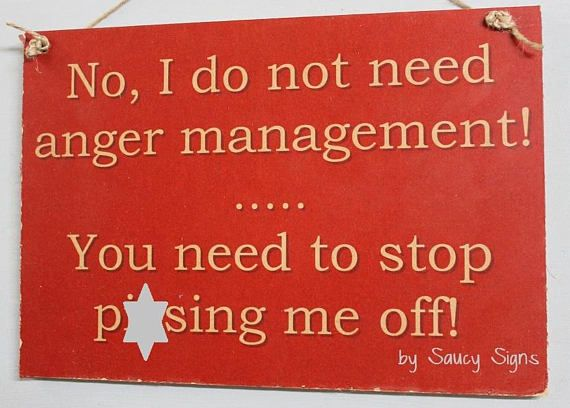 Mature Naughty Anger Management P*ssing Me Off Warning Sign - Wooden Funny  Cute Bar Signs