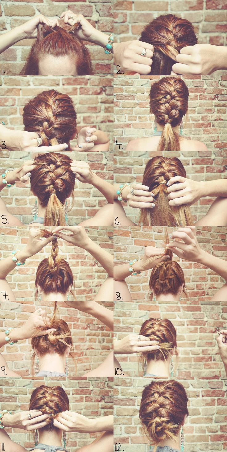 Les 25 meilleures idées de la catégorie Tutoriel de cheveux tressés sur  Pinterest