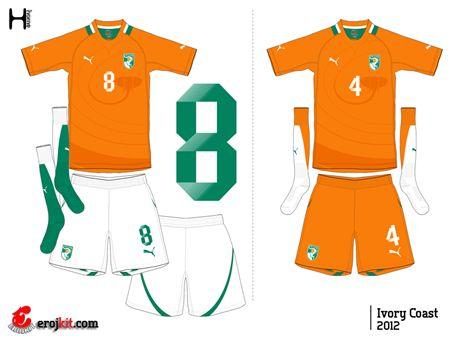 Ivory Coast | home jersey | 2012-2013