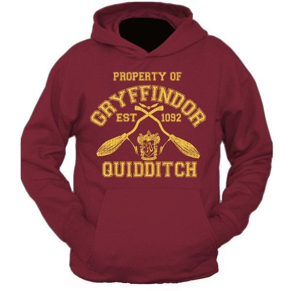 New Adults Property Of Gryffindor Quidditch Team Harry Potter Hooded... ($24) ❤ liked on Polyvore featuring tops, hoodies, purple top, purple hoodies, hooded sweatshirt, hooded pullover and purple hoodie