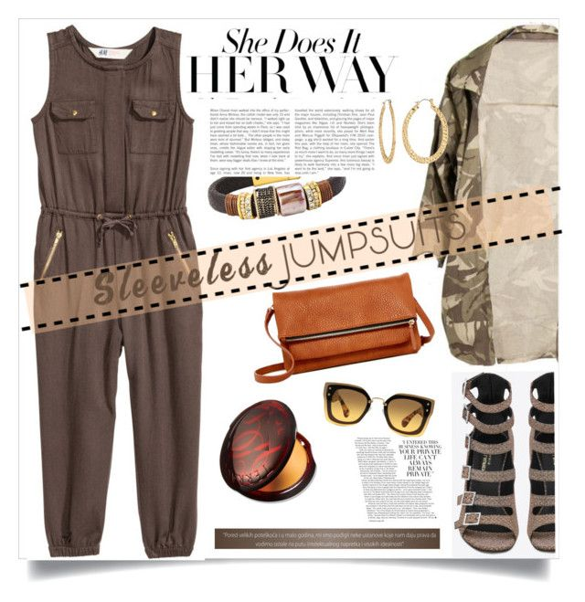 """""""Sleeveless Jumpsuit"""" by judysingley-polyvore ❤ liked on Polyvore featuring Yves Saint Laurent, Fragments, Miu Miu, Urban Expressions and sleevelessjumpsuits"""