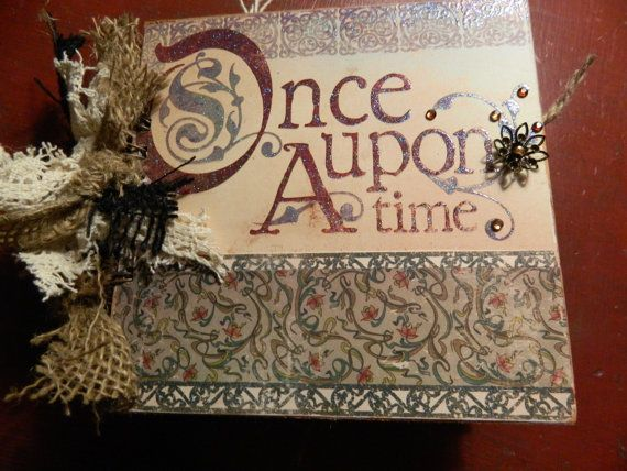 Once Upon A Time Wedding Jounaling Album by JandKKreations on Etsy