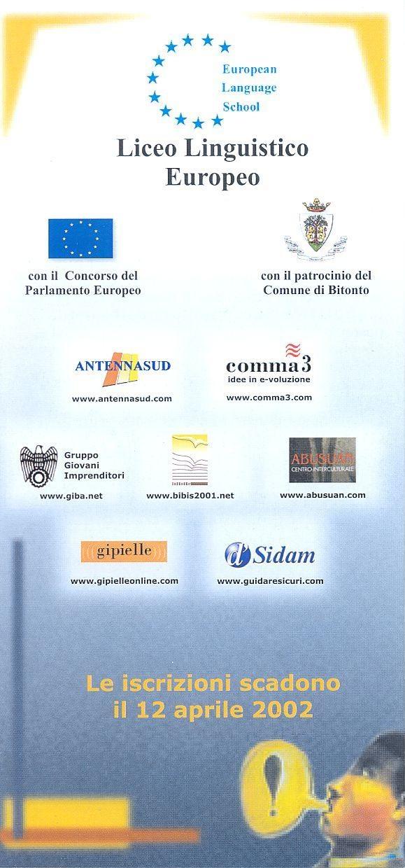 Partner Liceo Linguistico Europeo 2002