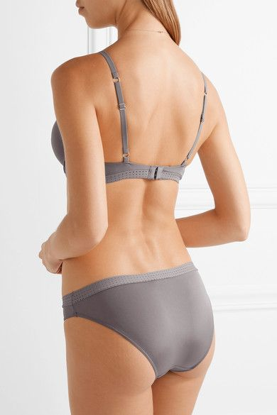 Elle Macpherson Body - The Body Perforated Stretch-jersey Underwired Bra - Gray - 3
