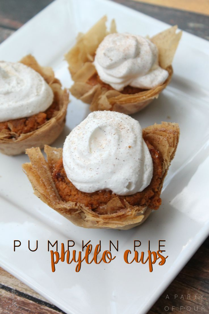 Tired of boring pumpkin pie? Dump the same old recipes and try these Pumpkin Pie Phyllo Cups!
