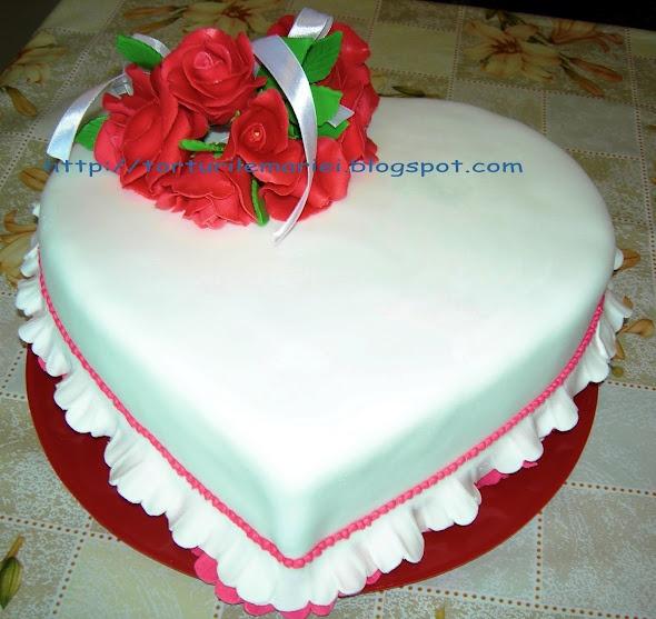 tort inima: Pe Facebook, Flux, Decor Cakes, For, Inima Cu, Torte Inima, Mariei, Mary Cakes, Faci