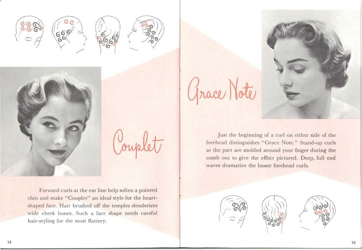 Vintage Pin Curl Setting Patterns