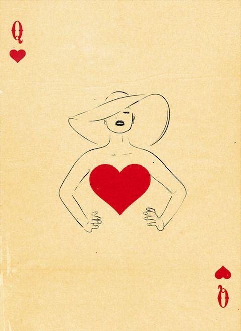 Tarjetas de póquer ilustradas con características juguetonas e imaginativas