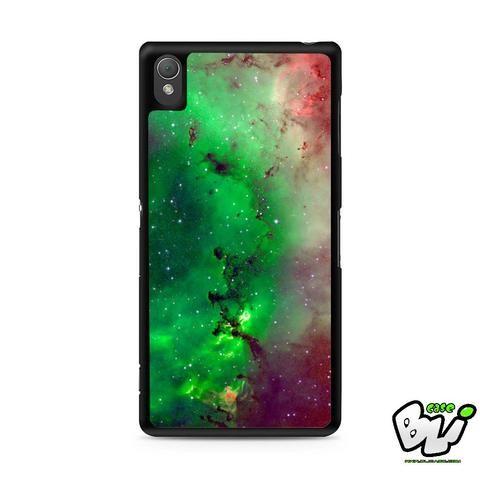 Red Green Galaxy Nebula Sony Experia Z3,Z4,Z5,C3,C4,E4,M4,T3 Case,Sony Z3,Z4,Z5 MINI Compact Case