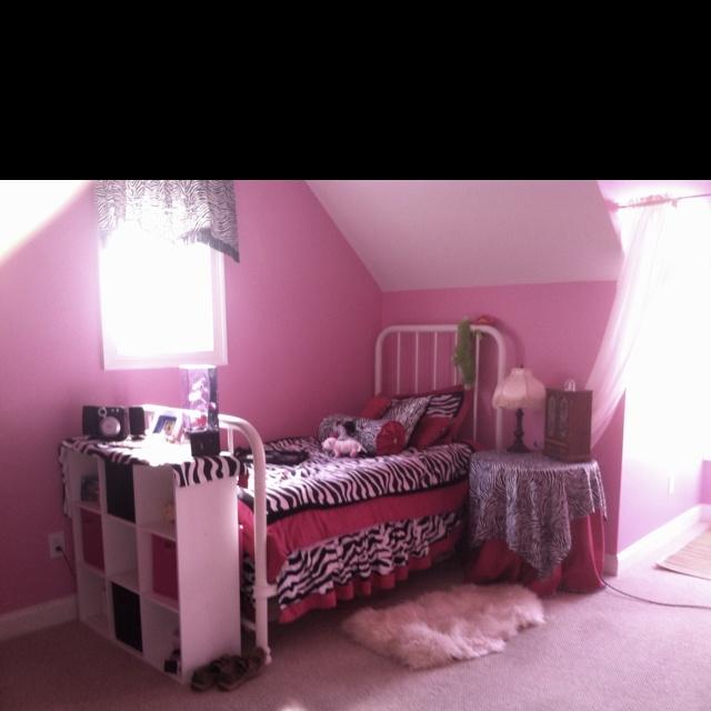 Adorable Zebra Print Bedroom