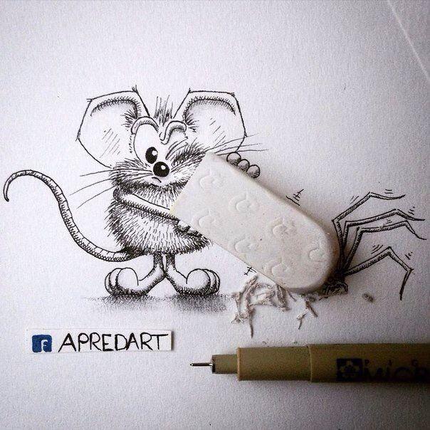 Смешные, карандаш смешной рисунок