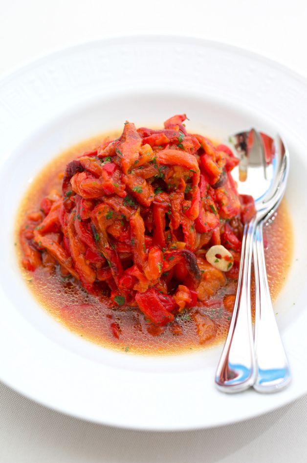 Салат из запеченных перцев с бальзамическим уксусом