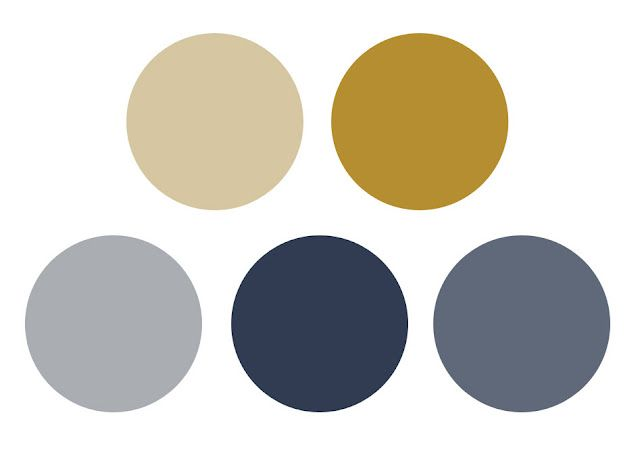 grey, blue and mustard -   Dark-Foyer and stair case  Mustard- Inlay in built ins  Khaki - Living/Dining  Lightest blue- fam room
