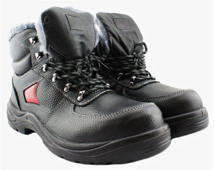 Ботинки утепленные на натуральном Север с ПК  — популярная модель для работников которым приходится работать в крайне суровых условиях.   Ботинки из натуральной кожи. Вкладная стелька повышенной комфортности. Утепленные натуральным мехом.  Поликорбанатный защитный подносок ( 200 дж )