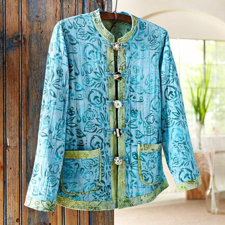 Reversible Indonesian Batik Jacket
