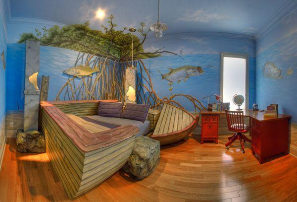 Fishing Theme Boys Bedroom Theme Room Decor Unique Kid Rooms