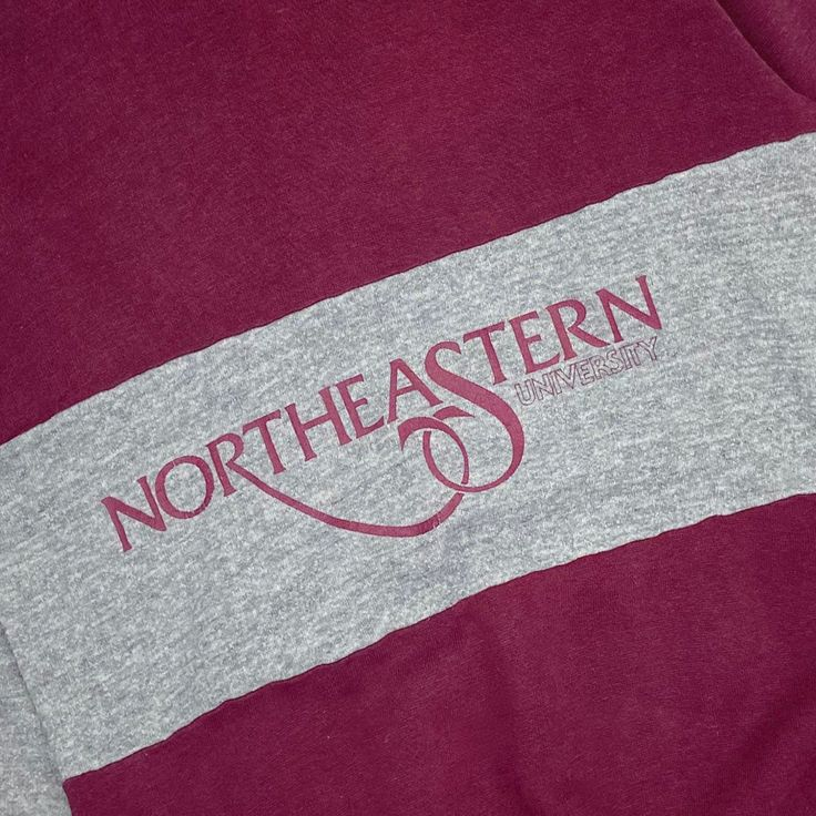 Vintage 80's Northeastern University Crewneck Sweatshirt ...