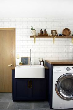 Before & After: A Modern Laundry Room Makeover for an Ohioan's Childhood Home