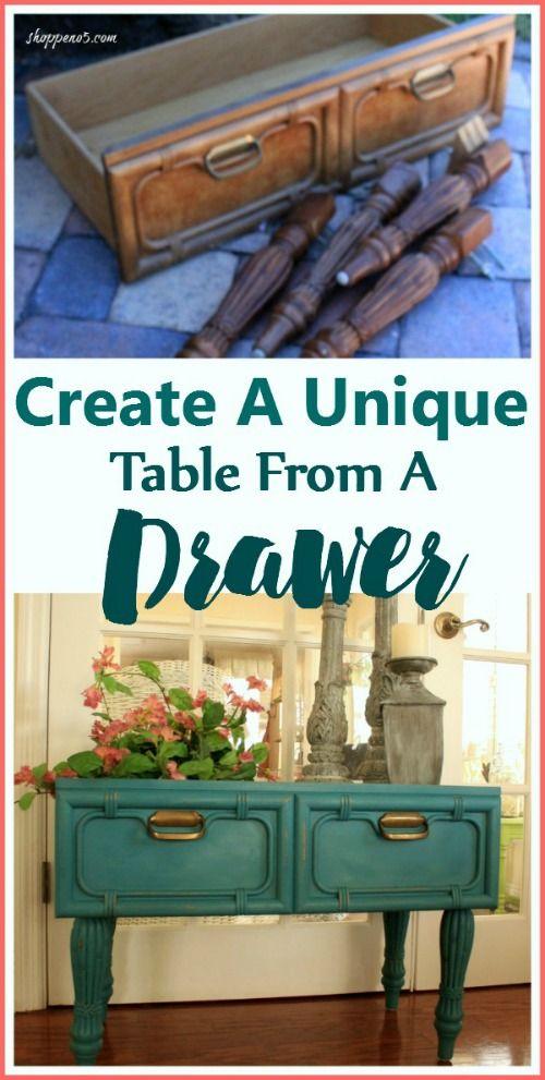 Repurposed Drawer Table