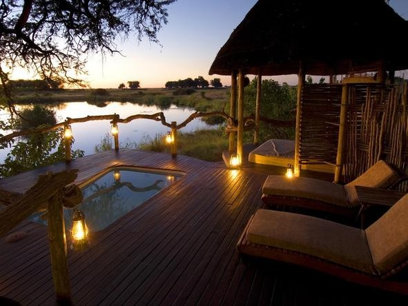 Kings Pool Camp in the private Linyanti Reserve, Botswana, offers guests a little slice of wilderness paradise