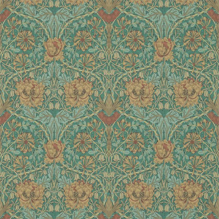 Honeysuckle & Tulip Emerald/Russet [214704] - 912SEK : Gyllenhaks Byggnadsvård AB, Kvalitetsvaror för hus och människor