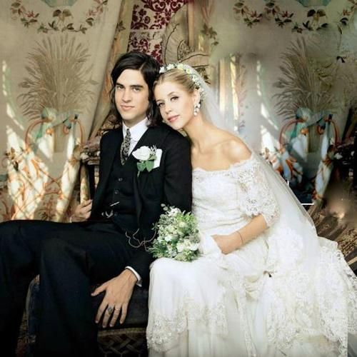 Such a beautiful bride and handsome husband. Rip peaches geldof, you're life wasn't always a fun ride but in the end you had a beautiful family who loved you ever so much.