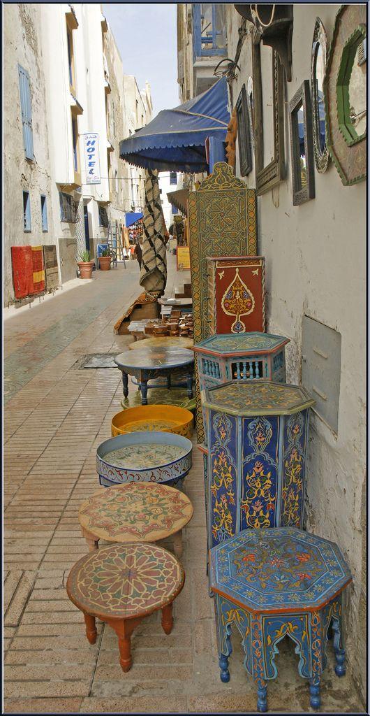 Colorful display . Morocco