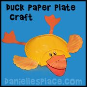 Duck Paper Plate Craft for Kids from www.daniellesplace.com