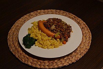 Schwäbische Linsen mit Spätzle und Saitenwürstchen 1