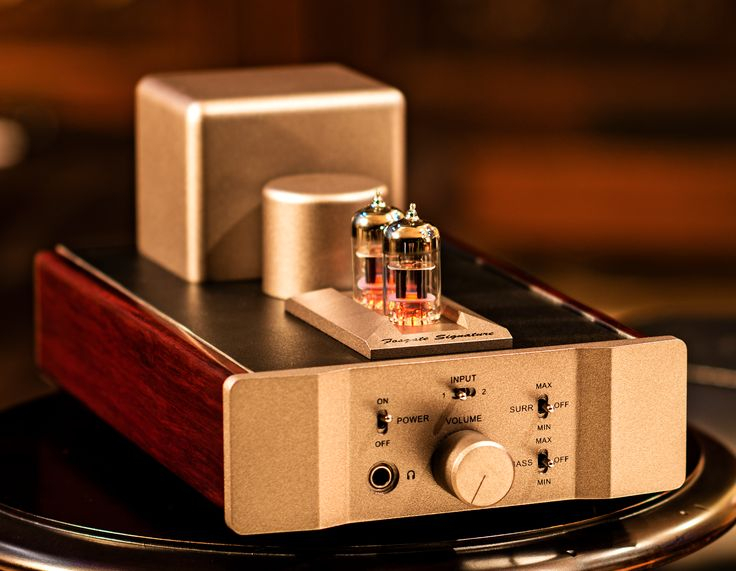 The Fosgate Signature Tube Headphone Amplifier can drive all of today's best headphones. It features Fosgate's unique and patented circuit designs, including Surround, that applies an out-of-phase cross-blend to create a sense of depth and space, moving the dimensional soundstage outside of your head, and Bass Boost to add extra weight and fullness to the lower octaves.