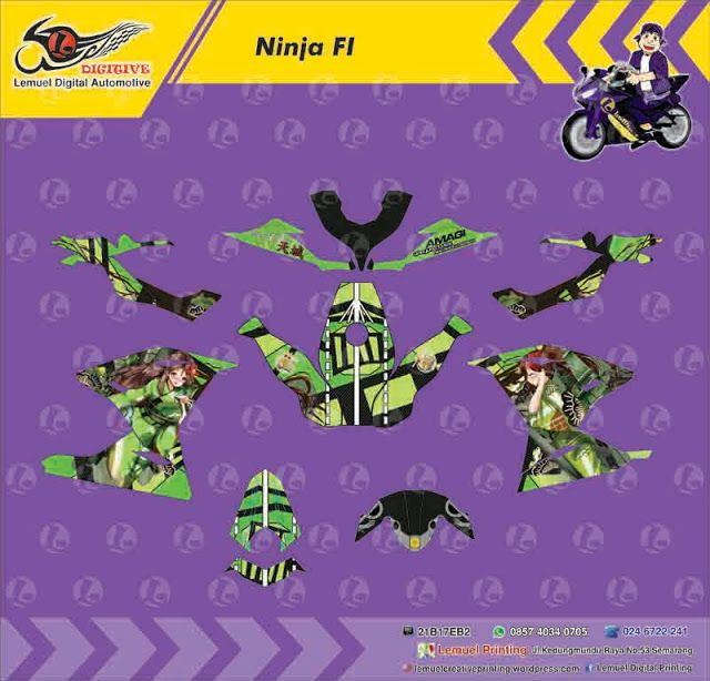 Custom Decal Vinyl Striping Motor Full Body Kawasaki Ninja 250FI Thema Amagi (kantai Collection) by DIGITIVE #Blogging101 #DecalVinylStripingMotorFullBody #DIGITIVE #KreatifitasLeMuel #LeMuel #ProdukProdukKreatifLeMuel #StripingMotorFullBody #StripingMotorKawasakiNinja250FI #StripingMotorSemarang