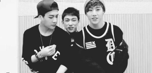 GOT7 | JACKSON JR and MARK. O.o cute Mark and Jr.  Heheh diva Jackson :))))))