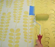 wall stencils - more affordable and customizable than wallpaper.