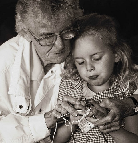 Old Grandma Knitting : Best images about teach kids to knit on pinterest