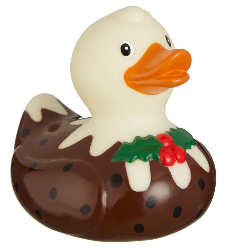 Christmas Pudding Rubber Bath Duck Novelty Gift! | eBay