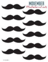 printable Mustache Cut Outs