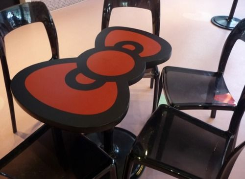 How cute is this Hello Kitty table??? <3