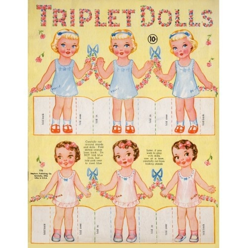 Paper doll triplets